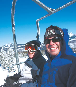 On the skilift at hoodoo